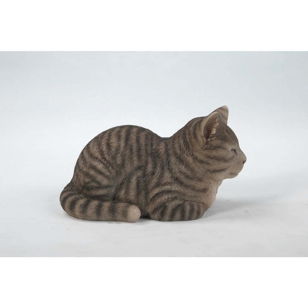 Hi Line Gift Sleeping Grey Tabby Cat Statue