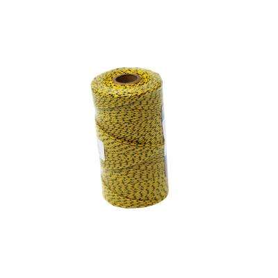 Super Tough Bonded Braided Nylon Line Yellow and Black - 685 ft.