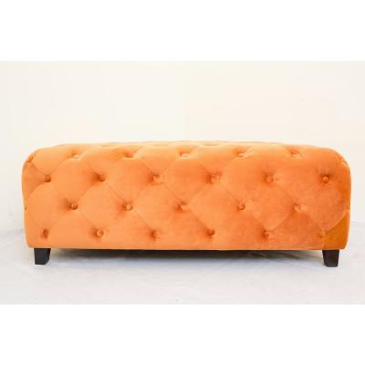 Jackson Orange Tufted Bench