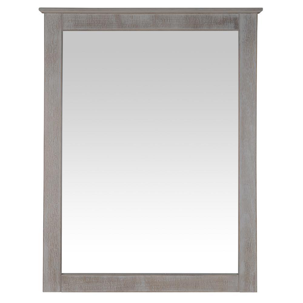 Shaker Style Weathered White Dresser Wall Mirror