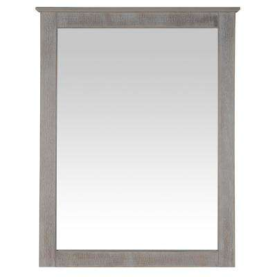 Shaker Style Weathered White Dresser Wall Mirror