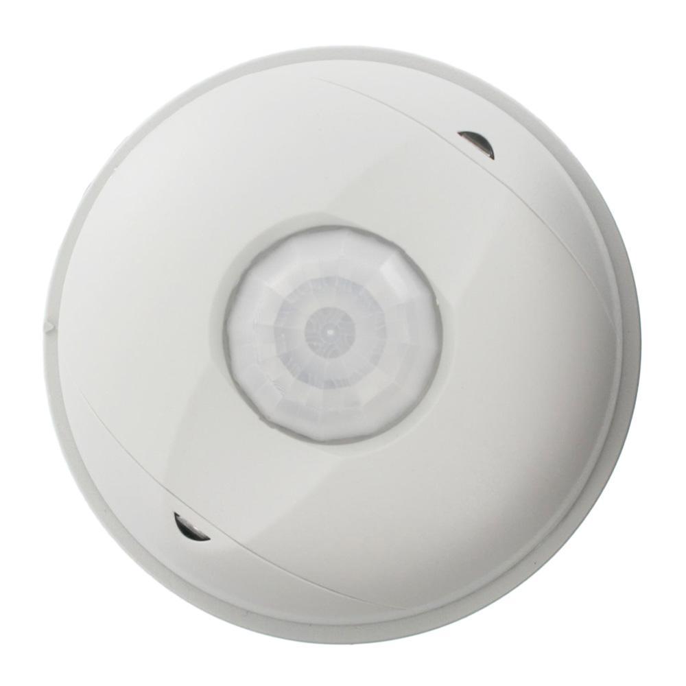 Provolt Commercial Grade Passive Infrared 1500 sq. ft. 360-Degree Ceiling Mount Occupancy Sensor, White