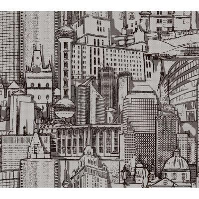 60.75 Sq. Ft. Great Expectations Wallpaper Black Paper Strippable Roll (Covers 60.75 sq. ft.)