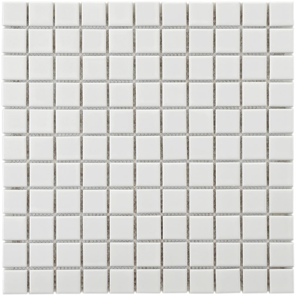 Metro Square Glossy White 11-3/4 in. x 11-3/4 in. x 5