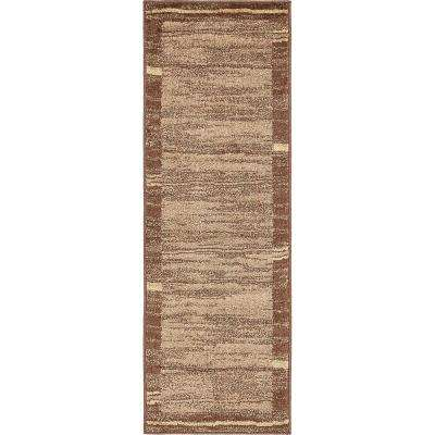 Autumn Foilage Brown 2' 0 x 6' 0 Runner Rug