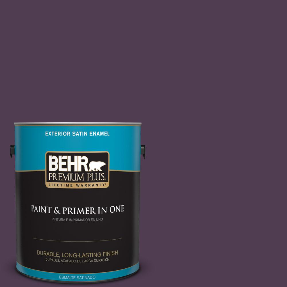 1-gal. #S-H-690 Interlude Satin Enamel Exterior Paint