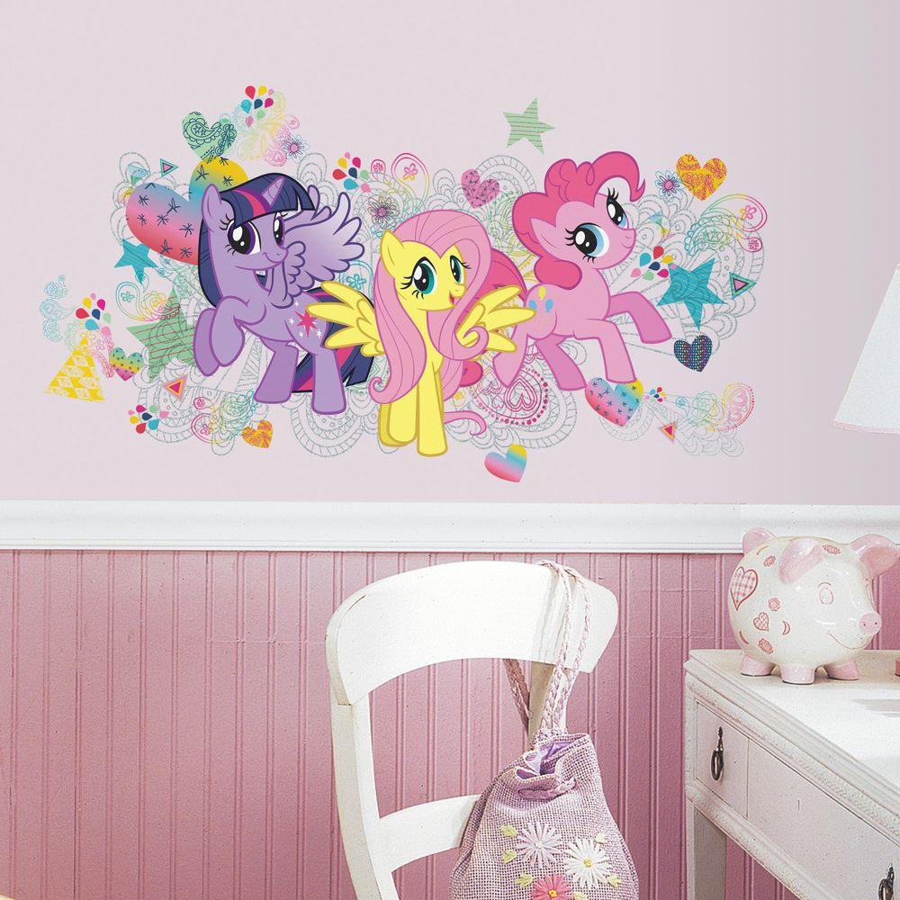 Peel And Stick My Little Pony Wall Graphics