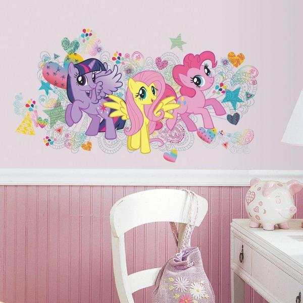 5 in. x 19 in. Peel and Stick My Little Pony Wall Graphics 6-Piece Giant Wall Decal