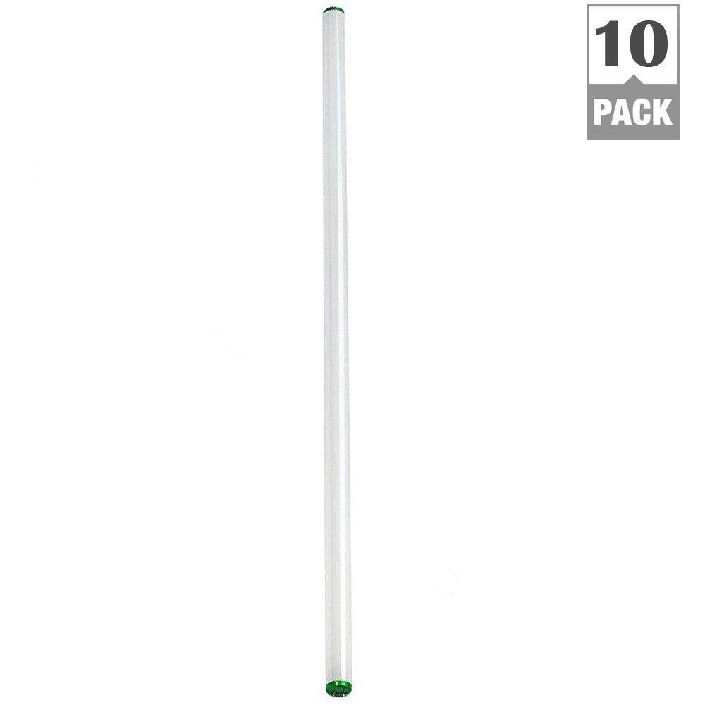 Philips 4 ft. T12 40-Watt Daylight Deluxe Linear Fluorescent Light Bulb (10-Pack)