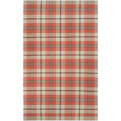 Bar Harbor Cape Plaid Pumpkin Patch 2 ft. x 3 ft. Area Rug