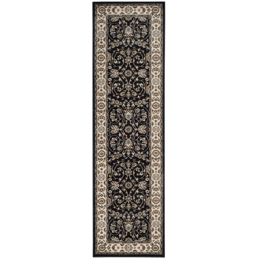 Safavieh Lyndhurst Anthracite Cream 2 Ft X 8 Ft Runner