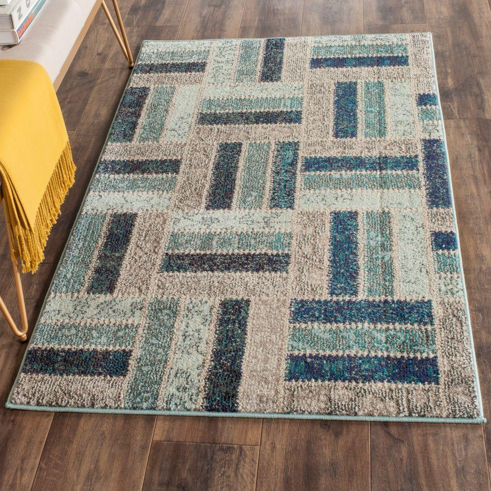 Safavieh Monaco Grey Blue 3 Ft X 5 Area Rug