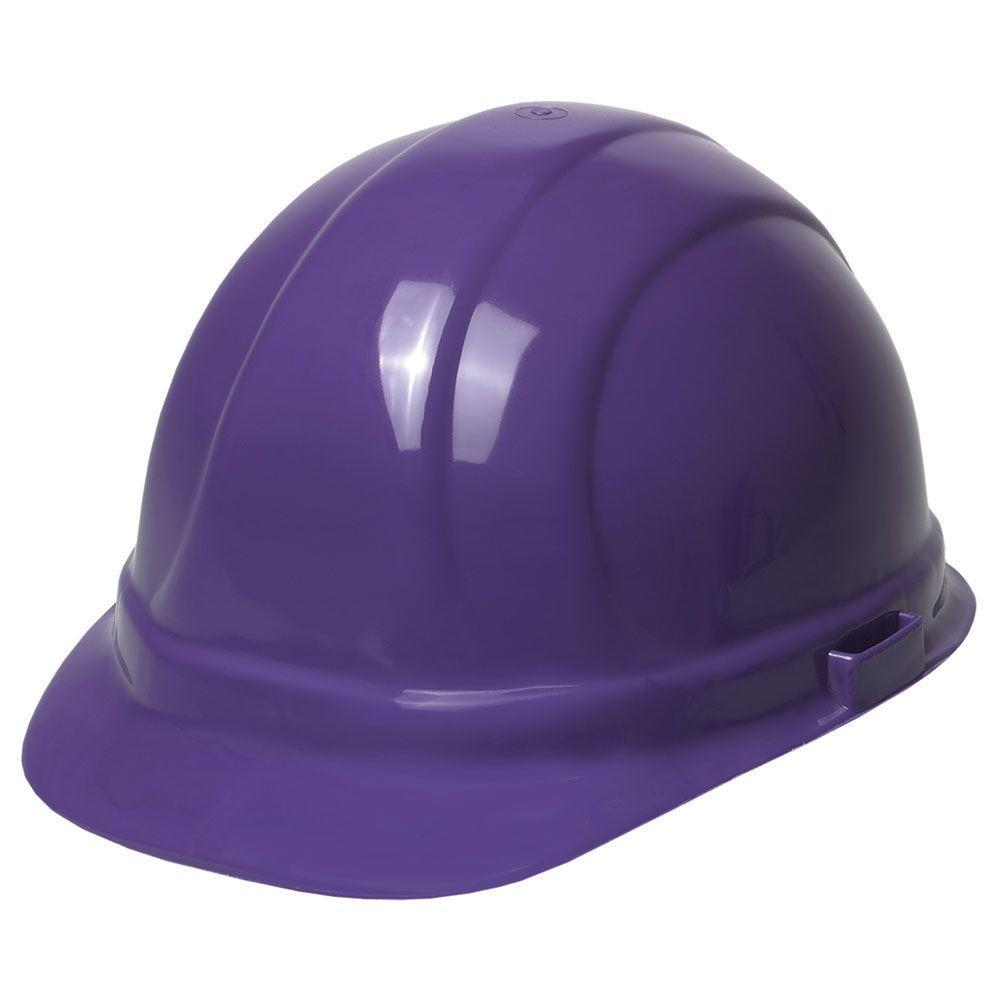 ERB Omega II 6 Point Nylon Suspension Slide-Lock Cap Hard Hat in Purple