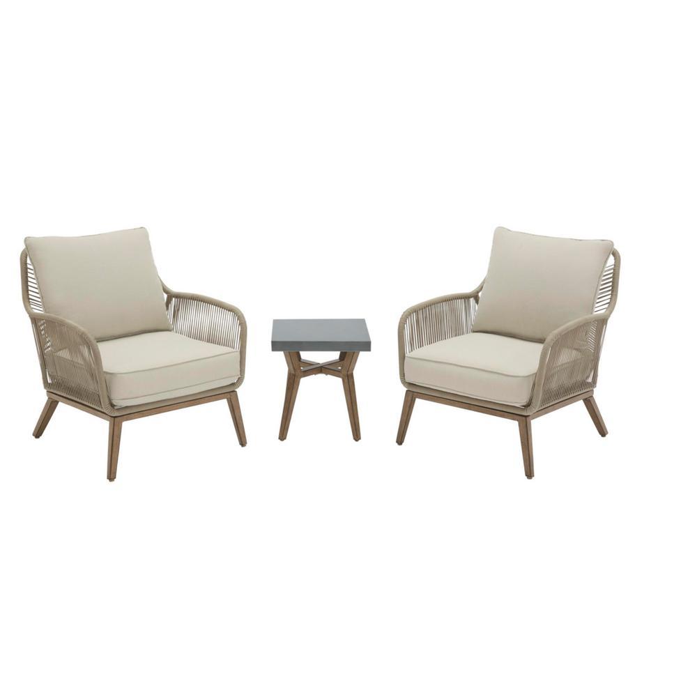 Hampton Bay Haymont 3-Piece Steel Wicker Patio Seating Set Deals