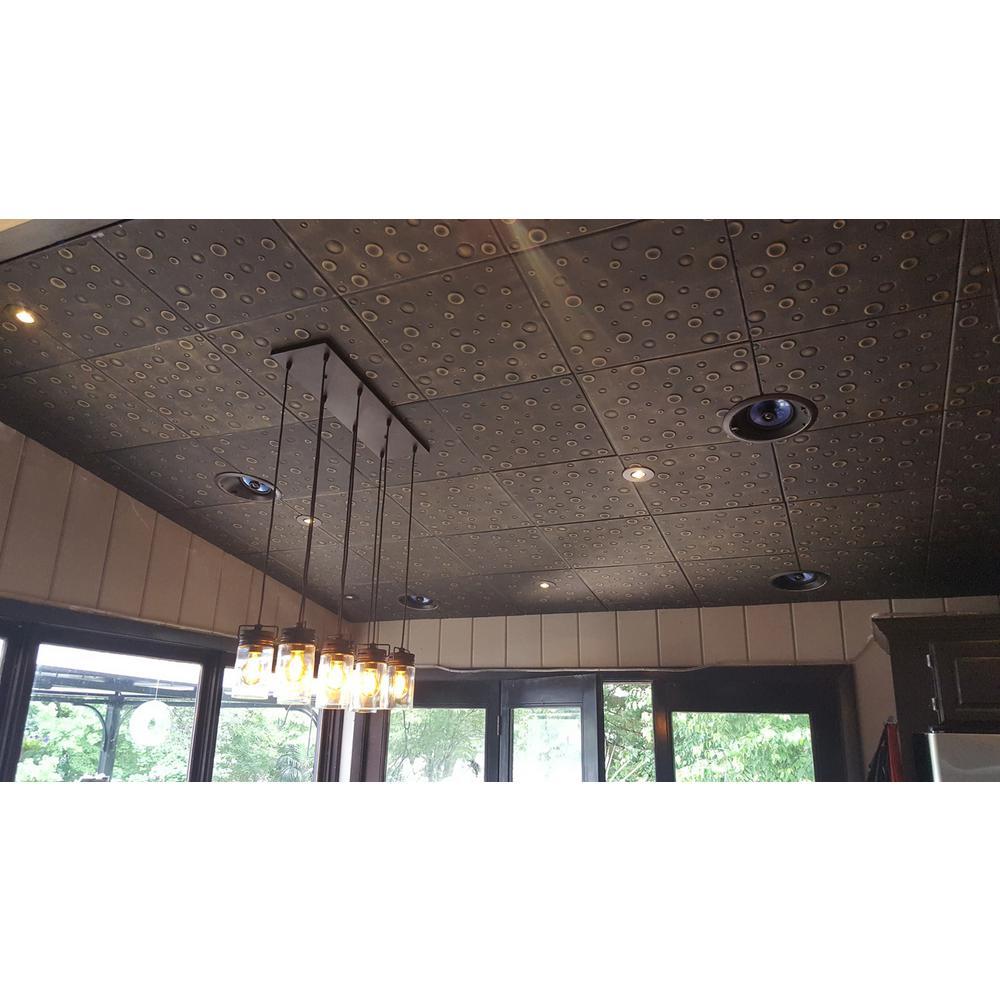 Bubbles 1.6 ft. x 1.6 ft. Glue Up Foam Ceiling Tile in Plain White (21.6 sq. ft./case)