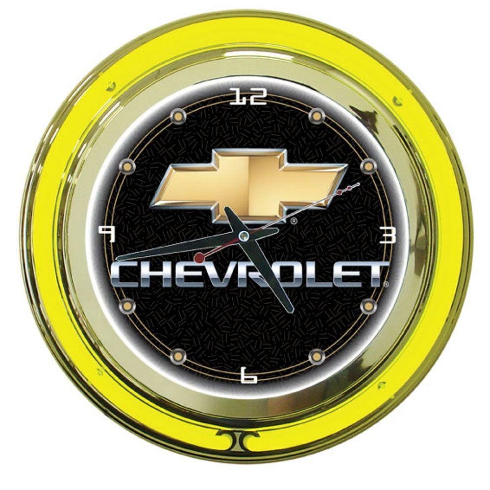 Trademark Global 14 in. Chevy Neon Wall Clock
