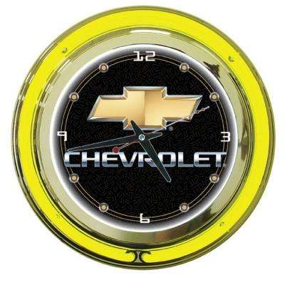 14 in. Chevy Neon Wall Clock