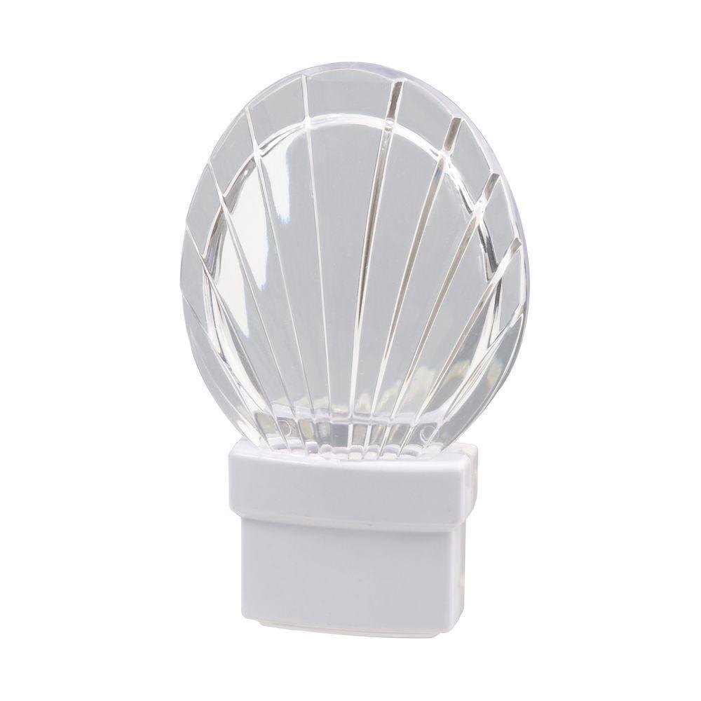 Night Light Fixtures: Amerelle Seashell LED Night Light-71076