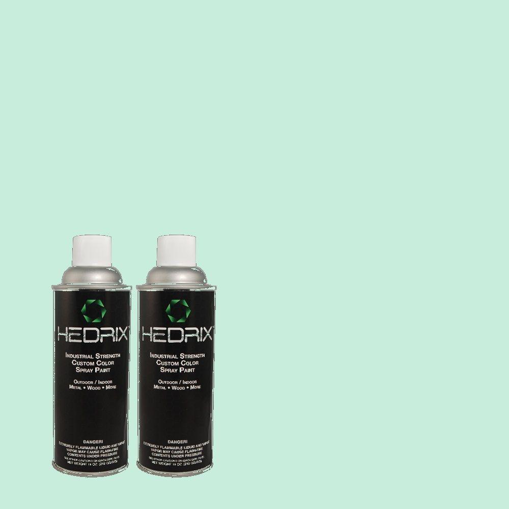 Hedrix 11 oz. Match of 1A49-3 Jade Isle Flat Custom Spray Paint (2-Pack)