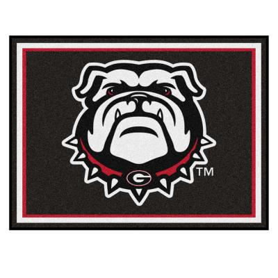 NCAA University of Georgia Ultra Plush 8 ft. x 10 ft. Area Rug