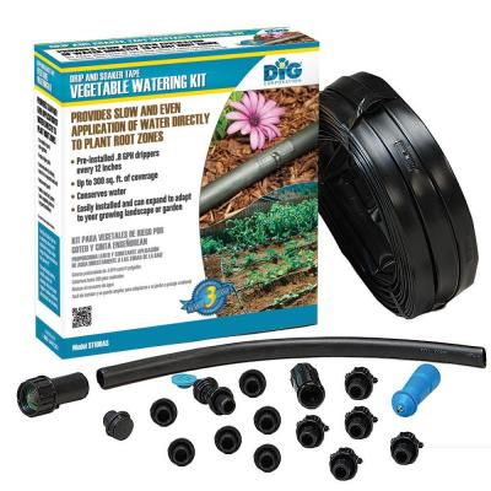 Drip and Soaker Vegetable Watering Kit
