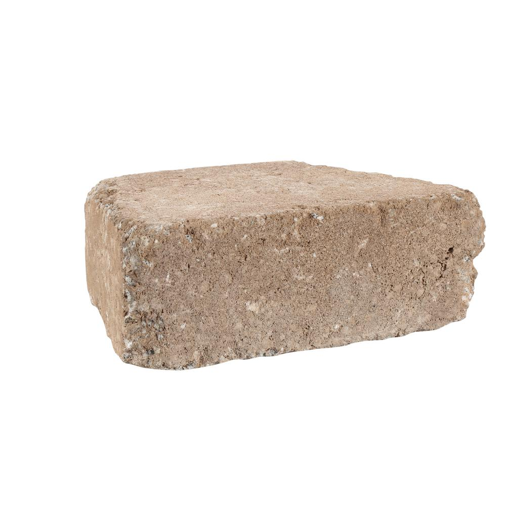 Pavestone RumbleStone Trap 3.5 in. x 10.25 in. x 7 in. Cafe Concrete Garden Wall Block