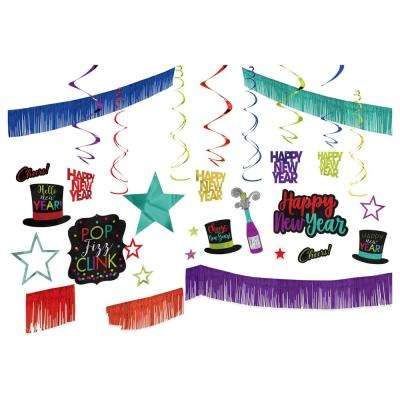 New Year's Jewel Tone Giant Room Decorating Kit (28-count 1-pack)