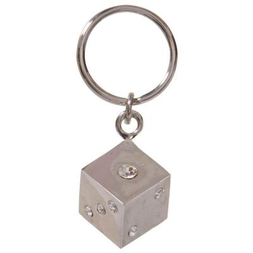 Jeweled Dice Key Chain (3-Pack)