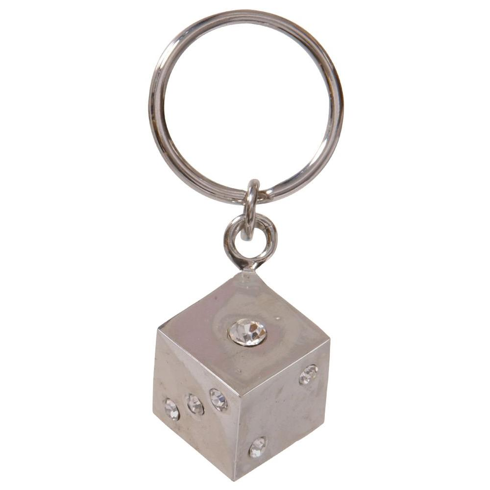 The Hillman Group Jeweled Dice Key Chain (3-Pack)