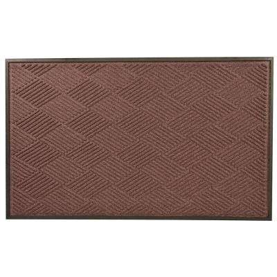 Opus Burgundy 36 in. x 60 in. Rubber-Backed Entrance Mat
