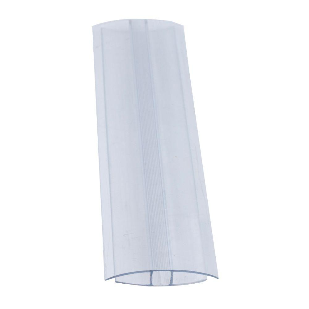 2 in  x 96 in  x 1/4 in  Thermoclear Polycarbonate Multi-Wall H-Channel