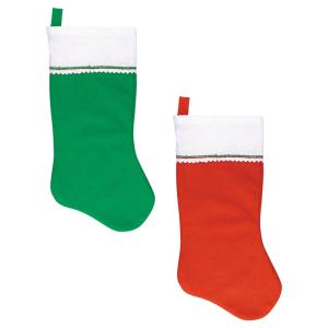 felt red and green christmas stockings 4 count 3 pack 370403 the home depot - Red And Green Christmas Stockings