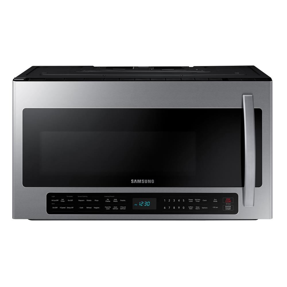 Samsung 2 1 Cu Ft Over The Range Microwave With Sensor Cook In Stainless Steel