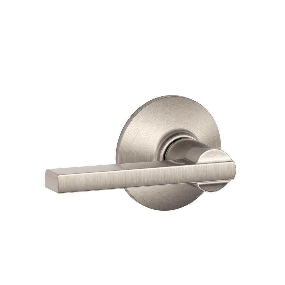 Dummy Brushed Nickel Round Knob Handle Door Lock HallWay Closet Lock