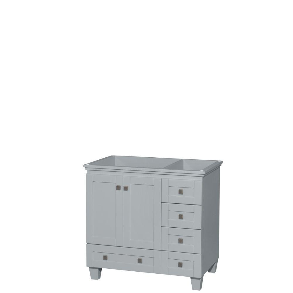 Acclaim 36 in. Vanity Cabinet in Oyster Gray