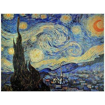 "Oriental Furniture 24 in. x 32 in. ""Starry Night"" Canvas Wall Art"