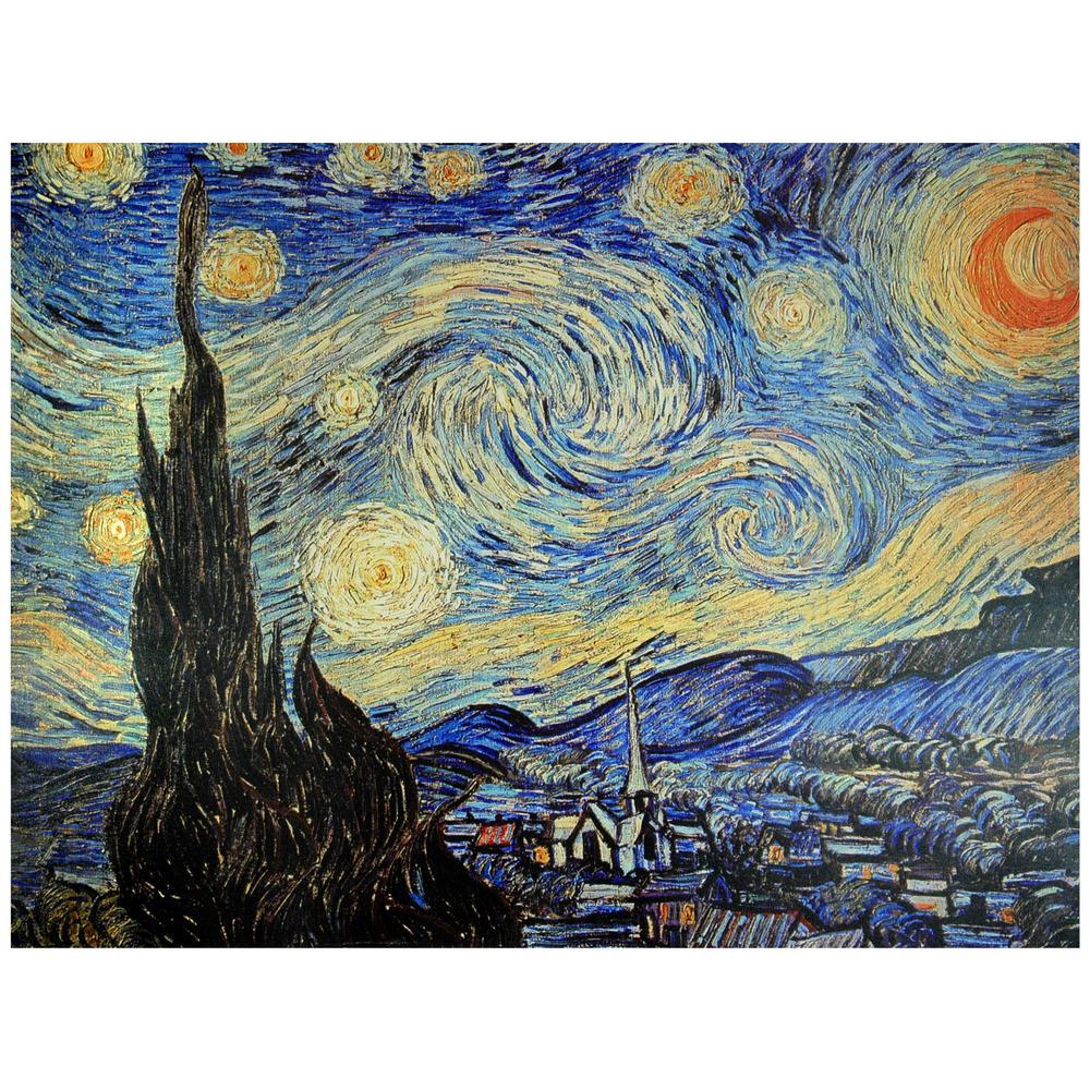 "Oriental Furniture 24 in. x 32 in. ""Starry Night"" Canvas Wall Art"
