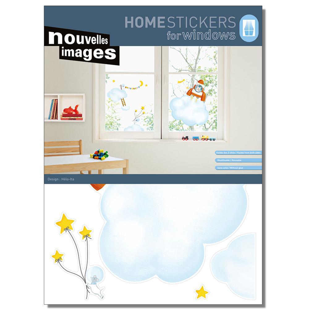 Multicolor XL-Rocket Home Sticker