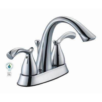 Edgewood 4 in. Centerset 2-Handle High-Arc Bathroom Faucet in Chrome