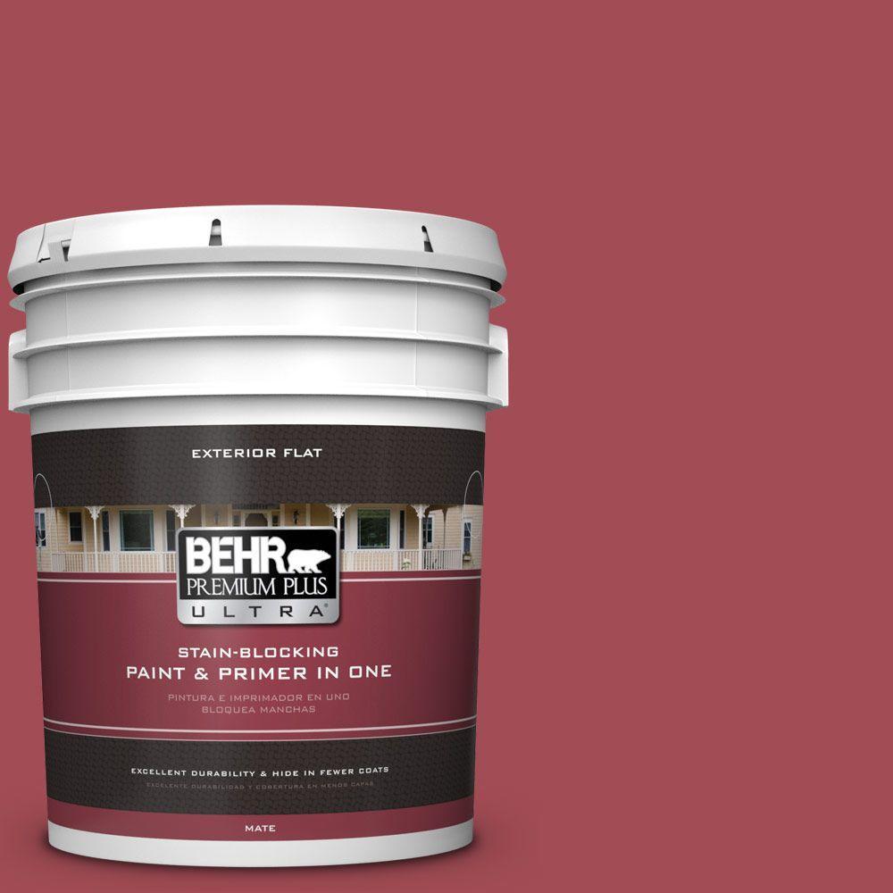 5 gal. #HDC-FL15-02 Cranberry Jam Flat Exterior Paint