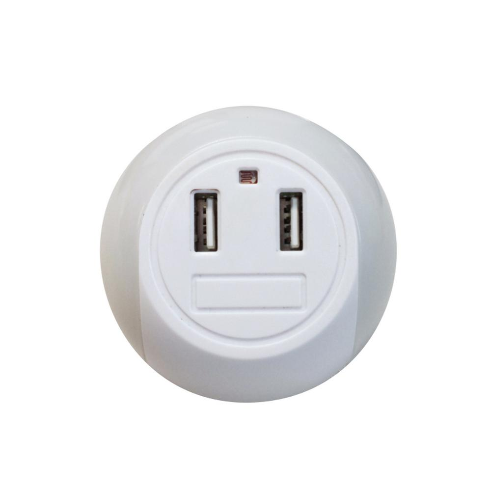 Globe Electric 2.1 Amp LED Automatic Night Light with 2 USB Port