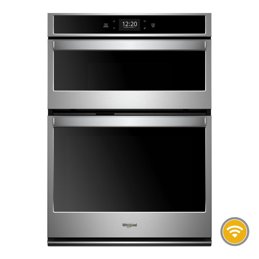 Whirlpool 27 In Electric Smart Convection Wall Oven With Built Microwave Touchscreen