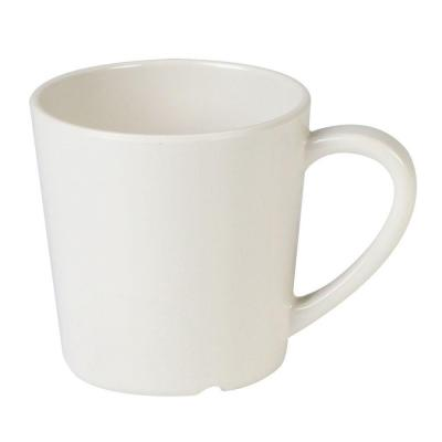 Coleur 7 oz., 3-1/8 in. Mug/Cup in Ivory (12-Piece)