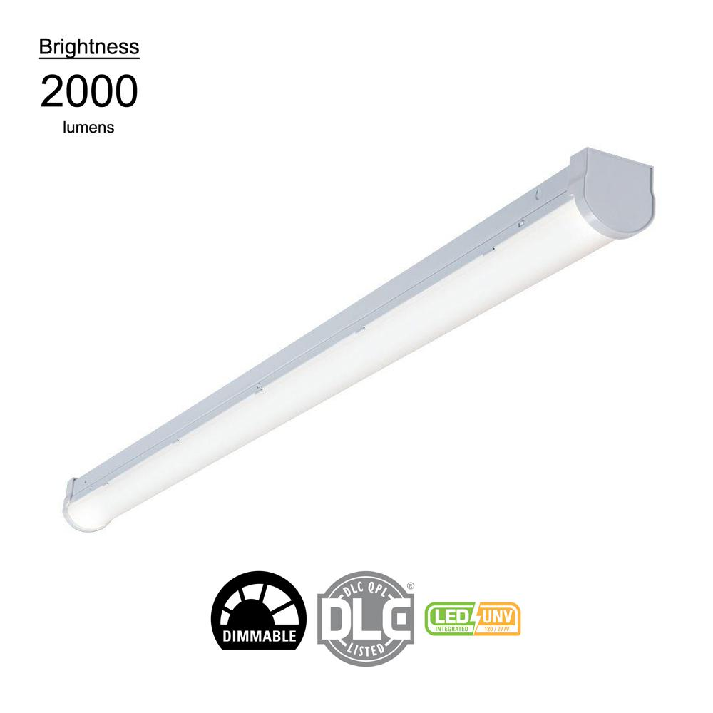 Linear White Integrated LED Warehouse Strip Light with 2410 Lumens, 4000K