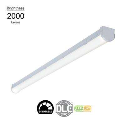 4 ft. Linear White Integrated LED Warehouse Strip Light with 2410 Lumens, 4000K, Dimmable