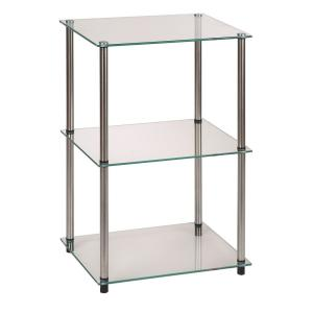 Convenience Concepts Designs2Go 3 Tier Glass End Table by Convenience Concepts