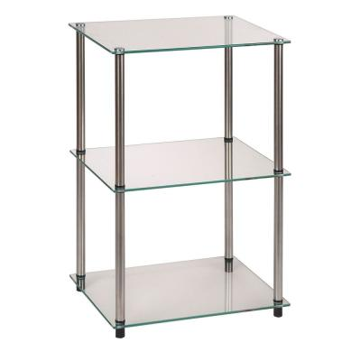 Designs2Go 3 Tier Glass End Table