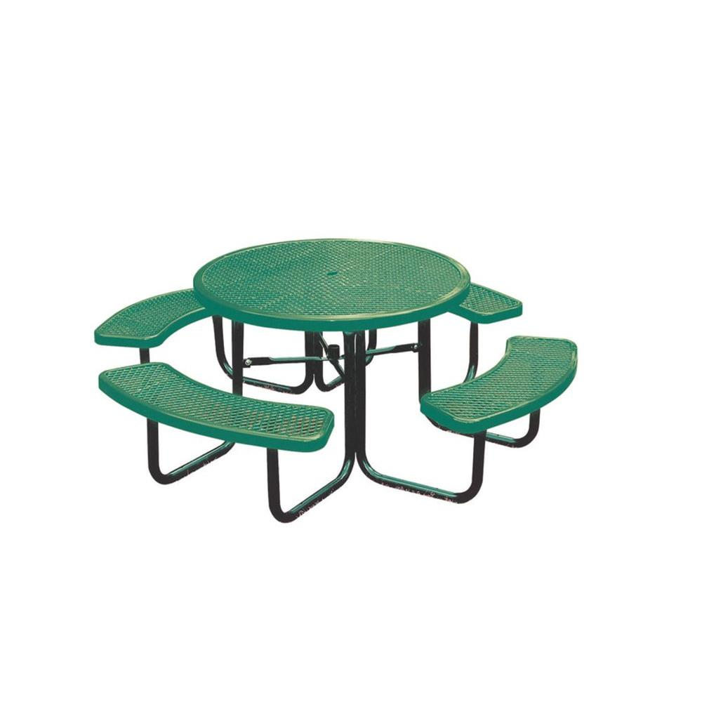 Ultra Play 46 in. Green Diamond Commercial Park Round Portable Table