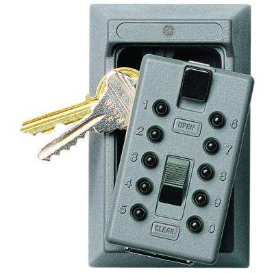 Mounted 5-Key Box with Pushbutton Combination Lock, ​Titanium