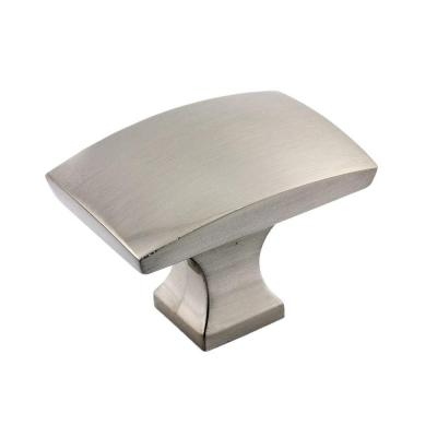 1-23/32 in. x 1-3/16 in. (44 mm x 30 mm) Brushed Nickel Transitional Metal Cabinet Knob